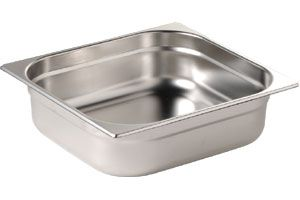 Stainless Steel 1/2 Half Size Gastronorm Pan 65mm deep