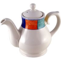 Churchill New Horizons Tea & Coffee Pot 30oz (85.2cl) Chequered Border