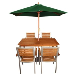 Table, Chairs & Parasols