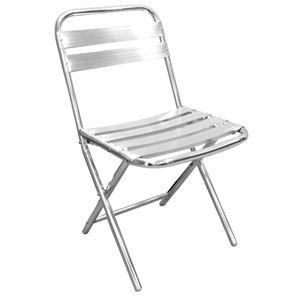 Bolero Folding Aluminium Chair (pack of 4)