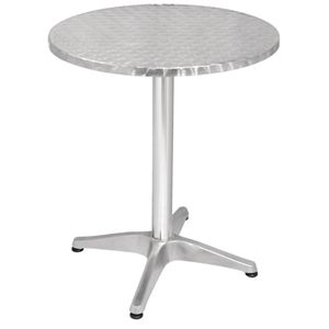 Bolero Stainless Steel Round Pedestal Table 800mm