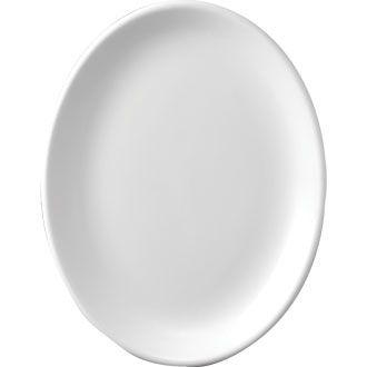 Churchill Plain Whiteware Oval Plate 12