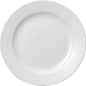 Churchill Plain Whiteware Classic Plate 10
