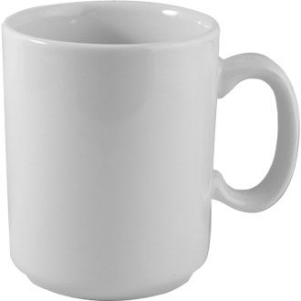 Churchill Plain Whiteware Mug 10oz (28cl)