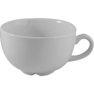 Churchill Plain Whiteware Cappuccino Cup 12oz