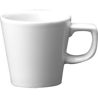 Churchill Plain Whiteware Cafe Cup 8oz (22.4cl)