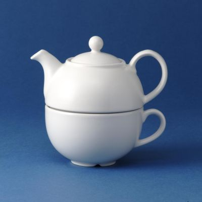 Churchill Plain Whiteware One Cup Tea Pot 13oz (36.2cl)