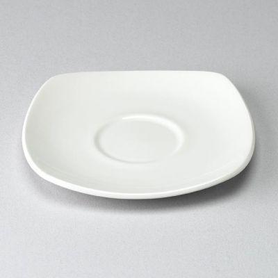 Churchill Plain Whiteware Square Saucer 5 3/8